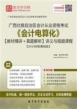 广西壮族自治区会计从业资格考试《会计电算化》【教材精讲+真题解析】讲义与视频课程【20小时高清视频】