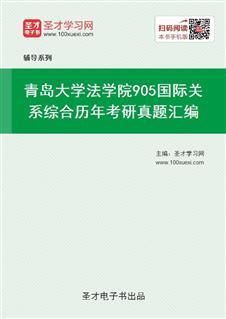 青岛大学法学院《905国际关系综合》历年考研真题汇编