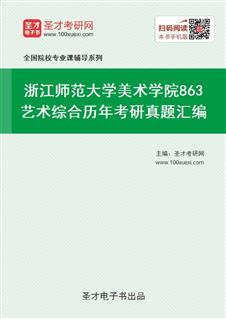 浙江师范大学美术学院863艺术综合历年考研真题汇编