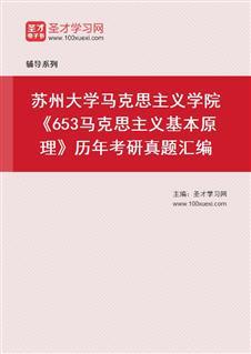 苏州大学政治与公共管理学院《653马克思主义基本原理》概论历年考研真题汇编