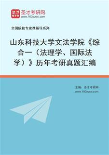 山东科技大学文法学院综合一(法理学、国际法学)历年考研真题汇编