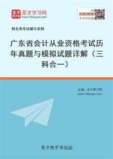 广东省会计从业资格考试历年真题与模拟试题详解(三科合一)