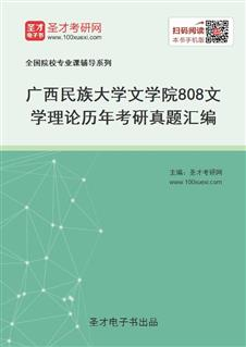广西民族大学文学院《808文学理论》历年考研真题汇编