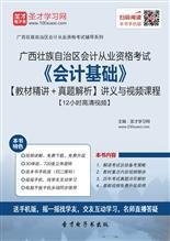 广西壮族自治区会计从业资格考试《会计基础》【教材精讲+真题解析】讲义与视频课程【12小时高清视频】