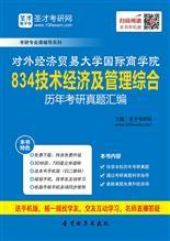 对外经济贸易大学国际商学院《834技术经济及管理综合》历年考研真题汇编