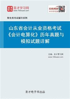 山东省会计从业资格考试《会计电算化》历年真题与模拟试题详解
