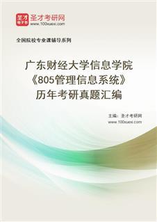 广东财经大学信息学院《805管理信息系统》历年考研真题汇编