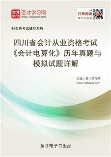 四川省会计从业资格考试《会计电算化》历年真题与模拟试题详解