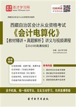 西藏自治区会计从业资格考试《会计电算化》【教材精讲+真题解析】讲义与视频课程【20小时高清视频】