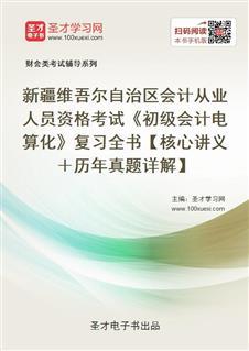 新疆维吾尔自治区会计从业人员资格考试《初级会计电算化》复习全书【核心讲义+历年真题详解】