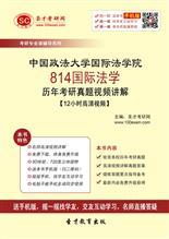 中国政法大学国际法学院814国际法学历年考研真题视频讲解【12小时高清视频】