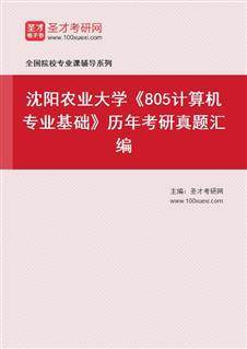 沈阳农业大学信息与电气工程学院805计算机《专业基础》历年考研真题汇编